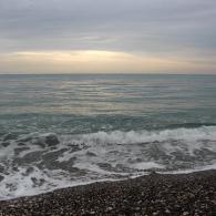 Море в Кемере зимой.