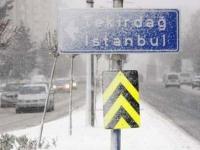 Сильный снегопад в Стамбуле
