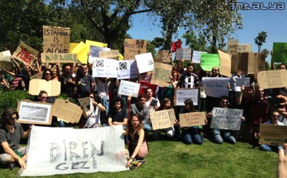 Акция поддержки в Барселоне (Испания)