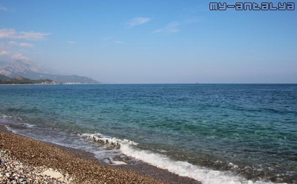 Море в Кемере на Новый год.