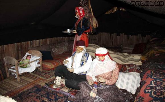 Визуализация домашней обстановки кочевников в Турции.
