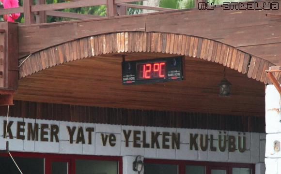 Сегодня (декабрь, первая половина дня) холодно. Температура воздуха +12.