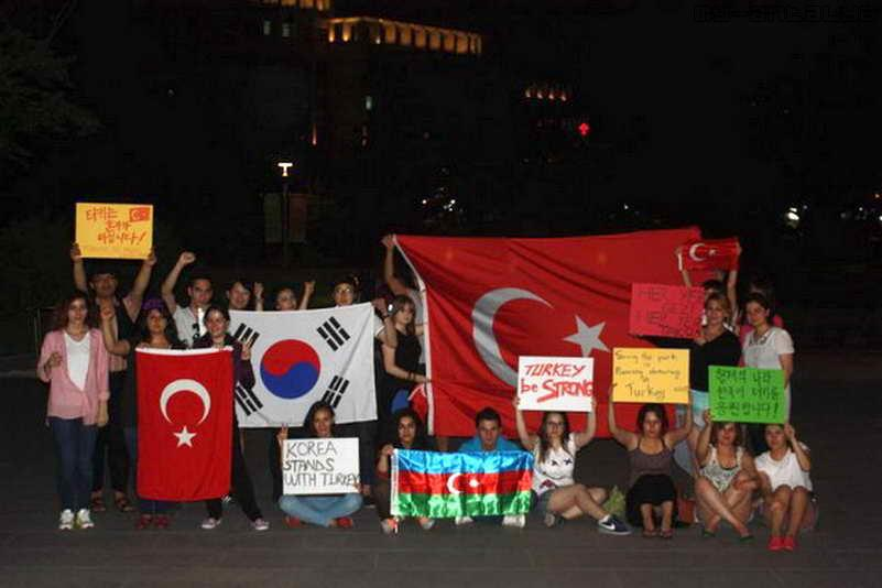 Акция поддержки в Сеуле (Южная Корея)