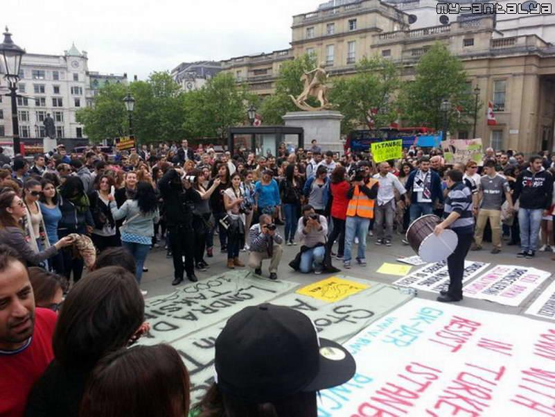 Акция поддержки в Лондоне (Великобритания)