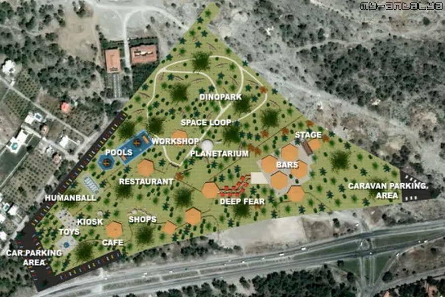 Схема Динопарка.